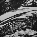 Rock study 1 - Screen print, edition of 10. (24.5 x 24.5 cm)